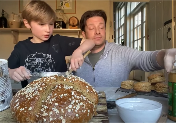 Jamie Oliver no yeast soda bread